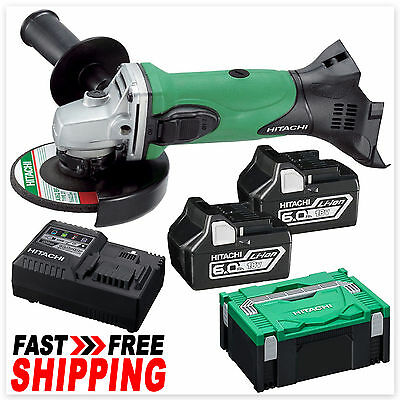 Hitachi 18V Lithium-Ion Cordless Angle Grinder 125mm Combo Kit - G18DSL