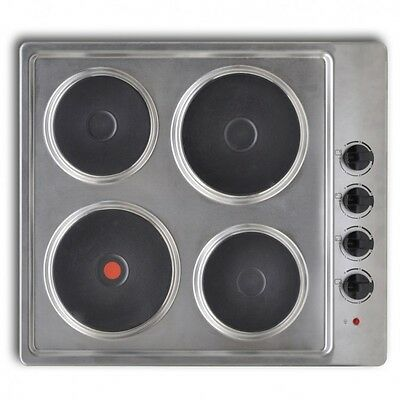 Kitchen Cooking Accessories Electric Hot Plate Hob 4 Burner Stainless Steel UK