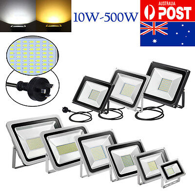10W-500W LED Flood Light  Warm Cool White SMD IP65 Outdoor Security Floodlights