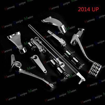 Chrome Forward Controls FootPegs Levers Linkages For 14 15 16 Harley Iron 883
