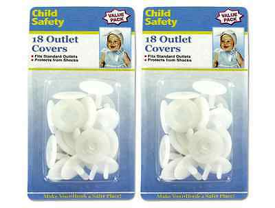 36 PCs Safety Outlet Plug Protector Covers Child Baby Proof Electric Shock Guard