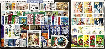 FRANCE Année COMPLETE 1998 - NEUF ** LUXE - 80 Timbres