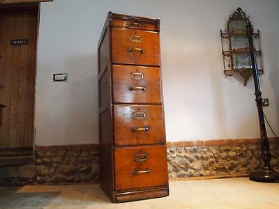 Chest of drawers filing cabinet Edwardian Oak c1900