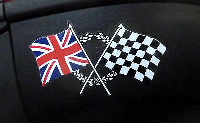 Royal Enfield Bullet 350 500 Continental GT  Union Jack Aufkleber Decal 2 St.