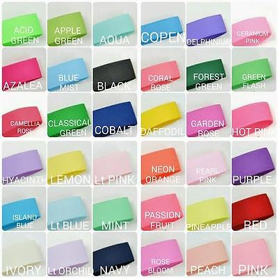 "Highest Quality Grosgrain Ribbon 75mm 3"" inch 49 colours"