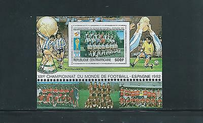 Central African Republic Football World Cup Spain 1982 Min. Sheet SG ms738 MUH