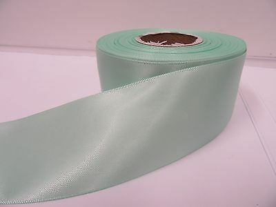 3mm 7mm 10mm 15mm 25mm 38mm 50mm DARK MINT GREEN Satin Ribbon double sided Roll