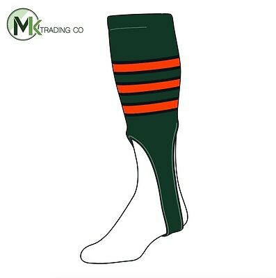 "TCK® Large, 300D, 9"" - Dark Green–Black–Orange - MLB® Baseball Stirrups"
