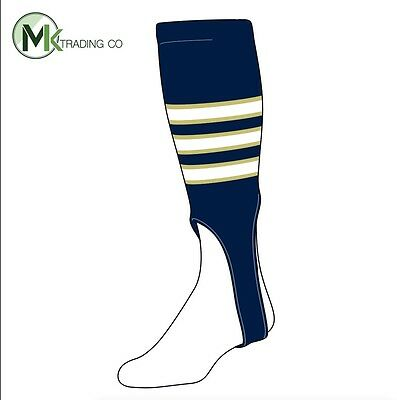 "TCK® Large, 300D, 7"" - Navy Blue–Vegas Gold–White - MLB® Baseball Stirrups"