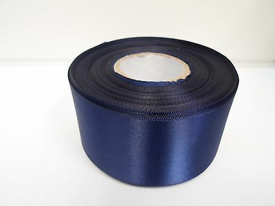 3mm 7mm 10mm 15mm 25mm 38mm 50mm NAVY DARK BLUE Satin Ribbon double Roll Bows