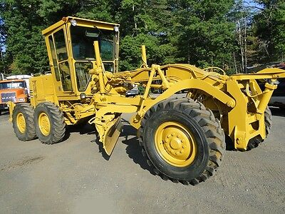 1987 CAT 120G Motor Grader with Snow Plow Wing