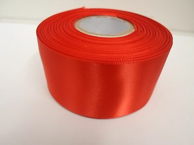 3mm 7mm 10mm 15mm 25mm 38mm 50mm BRIGHT RED Satin Ribbon double sided roll Bows