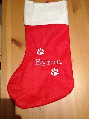 Personalised Christmas stocking Pet/cat/dog/children's great gift