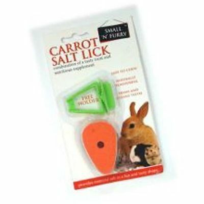 Small 'N' Furry Carrot Salt Lick With Holder Rabbit Toy