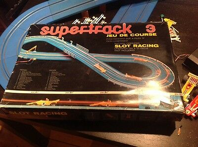 VINTAGE 1970's super track 3 slot racing cars from playart complete