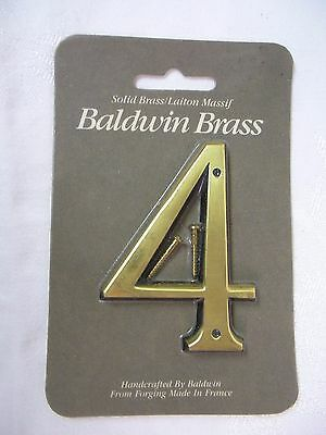 "Baldwin  3"" House Number 4 SOLID  BRASS BRAND NEW!!"