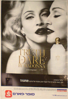 Madonna   Israel Israeli Poster Hebrew Truth Or Dare