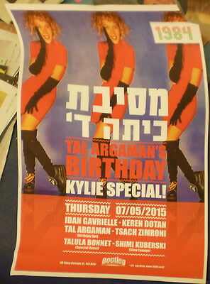 KYLIE MINOGUE   ISRAEL HEBREW POSTER Got To Be Certain