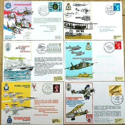 GB Air / RAF- related, 6 flown covers - 1977 anniversaries mix