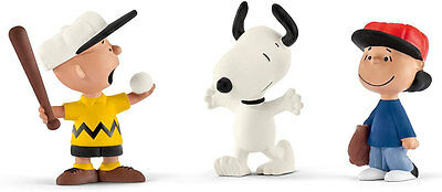 Official Schleich Peanuts Mini Baseball Figure Set - 3 Pack - 6cm