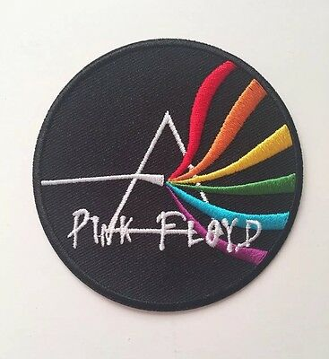Round Pink Floyd Dark Side Wavy Lines Embroidered Patch Iron On Or Sew On