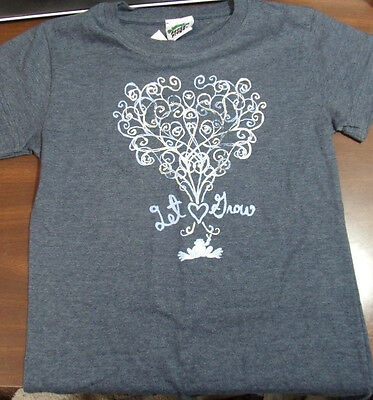 Peace Frogs Tree Let Love Grow Youth Small (6-8)Girl Cut T-Shirt