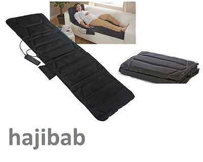 Full Body Heated Massager Foldable Mat Massage Muscle Relief Stress Tension