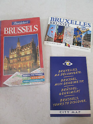 Baedeker's BRUSSELS ~ City Guide w/ 2 Maps Included ~ Europe Travel Vacation