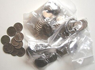 Packs Of 10 Withdrawn Pre Decimal Elizabeth Ii Sixpence Coins All Dated 1954