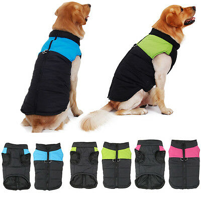 Pet Dog Clothes Padded Jacket Vest Winter Warm Dog Coats for Small & Large Dogs