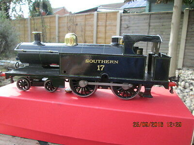 GAUGE 1 VINTAGE 4-4-0T ENGINE IN SOUTHERN Rly. LIVERY 3 RAIL 12v D.C CONTROL
