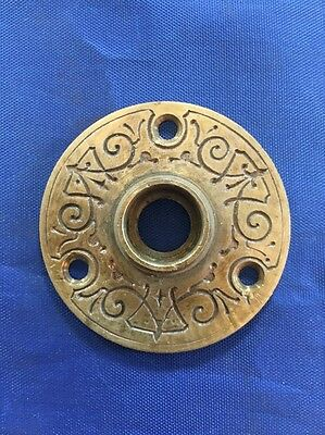 Victorian Brass Rosette Authentic Antique Hardware Free Shipping
