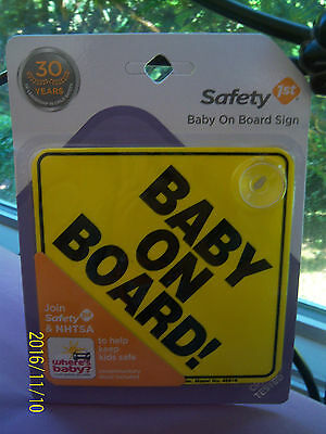 Safety 1st BABY ON BOARD sign! BRAND NEW! Model No. 48918