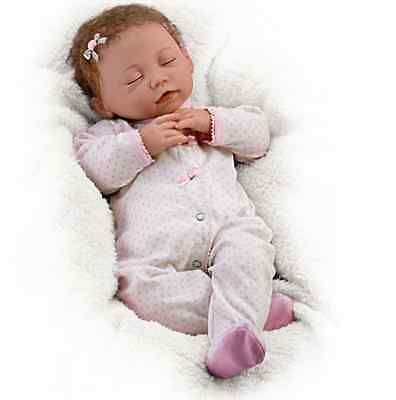 Ashton Drake ALLIE EVERY MOMENT IS PRECIOUS breathing baby doll by Linda Murray