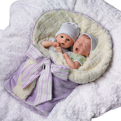 ADDISON AND AIDEN, incredibly lifelike twin baby dolls by artist Donna Lee