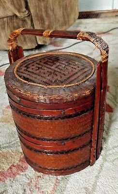 Antique Chinese Export Sewing Basket