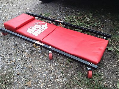 Torin Big Red Garage Car Creeper Mechanic Roller Trolley Padded Used Some Marks
