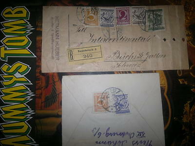 Austria Osterreich  stamps Old On Envelopes Posted_Innsbruck_collectors Stamps,
