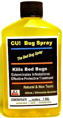 Say Bye-Bye to Bed Bugs SAFELY NonTox Spray CUbugspray *CONC.makes 0.5-0.75 GAL.