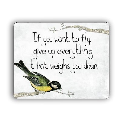 Inspirational Quote Mouse Pad Computer PC Laptop Mousepad