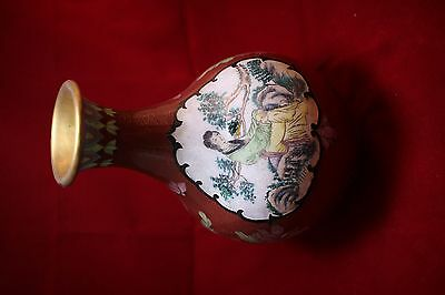 Antique Chinese Cloisonne Vase 20 cm in Height