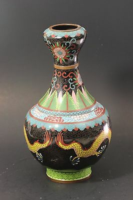 Antique Chinese Cloisonne Vase 27 cm in Height - Qing Dynasty