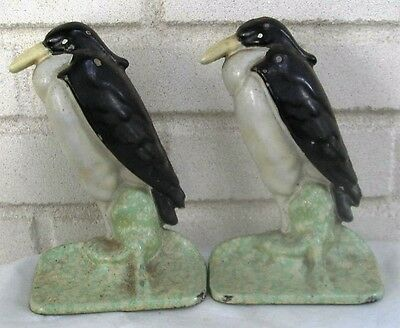 Fantastic Antique Cast Iron Birds Bookends Pair One Listed as Doorstop Bertoia