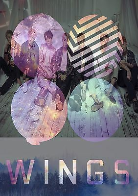 BTS WINGS Poster-A3 Size