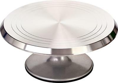"12"" Cake Decorating Icing Turntable Heavy Duty Revolving Rotating Stand Quality"