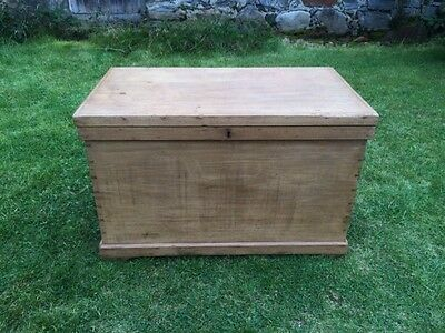 Late Victorian Bedding Chest / Trunk / Box