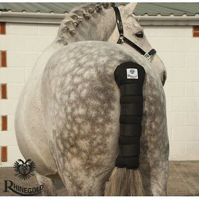 Rhinegold Cotton Quilted Tailguard – Black – show season **FREE P&P**