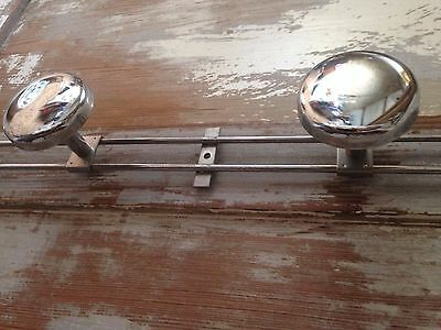 Vintage French 50s /60s Industrial Retro Coat Hooks in Chromed metal
