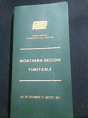 Penn Central Northern Region Timetable No. 7 / 1975