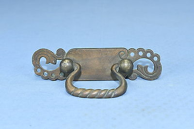 Antique CAST BRASS PIERCED DESIGN EASTLAKE HANDLE PULL DRAWER HARDWARE LOT #82A